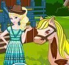 Elsa cuidar da fazenda