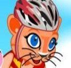 Vestir gatinho ciclista