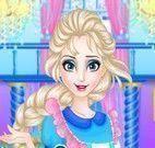 Elsa limpeza do castelo