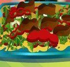 Anna fazer salada de frango