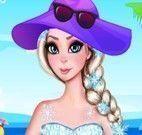 Vestir Elsa grávida na praia