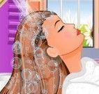 Salão de beleza lavar cabelos