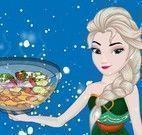 Elsa preparar salada