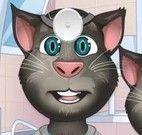 Gato Tom médico dos olhos
