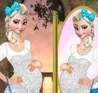 Elsa grávida moda no castelo