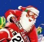 Papai Noel presentes de Natal de moto