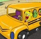 Dirigir carro escolar com Bob Esponja