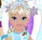 Bebê Elsa na banheira
