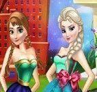 Anna e Elsa no salão de beleza