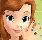 Princesa Sofia pintar unhas
