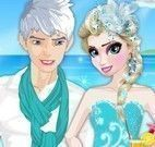 Vestir Elsa e jack na praia