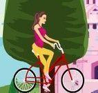 Miss andar de bicicleta