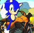 Corrida de moto do Sonic
