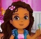 Dora no spa limpeza de pele