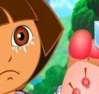 Cuidar do pezinho da Dora