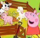 Peppa cuidar dos animais da fazenda