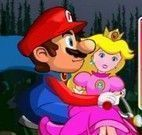 Mario na bike salvar Peach