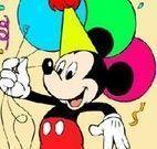 Colorir Mickey no aniversário