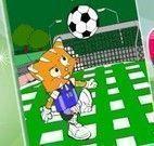 Pintar desenho do gato na Copa do Mundo