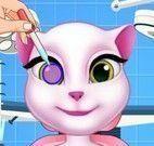 Angela cuidar dos olhos