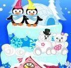 Fazer e decorar bolo dos pinguins
