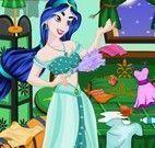 Princesa Jasmine limpar quarto