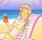 Elsa na praia cuidados