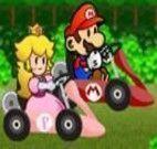 Andar de kart com o Mario e seus amigos