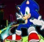 Andar de skate com Sonic