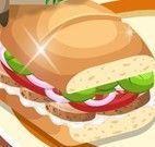 Preparar sanduíche de carne e salada