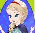 Anna e Elsa Frozen limpar jardim