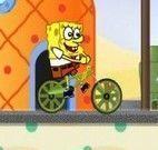 Bob Esponja de bicicleta