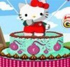 Decorar bolo da Hello Kitty