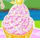 Fazer cupcakes de morango com limão