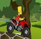 Bart Simpsons no quadriciclo
