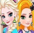 Elsa e Rapunzel maquiagem e roupas