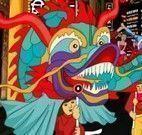 Decorar festa do dragão chinês