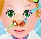 Cuidar do nariz da bebê