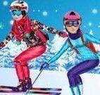 Esquiando com princesas