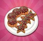 Biscoitos de chocolate do natal
