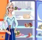 Elsa limpar cozinha e geladeira