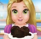 Rapunzel bebê fazer bolo