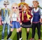 Família Frozen no colégio