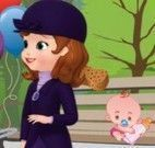 Limpar carrinho de bebê Princesa Sofia
