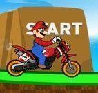 Sonic e Mario corrida de moto