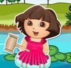 Dora na lagoa