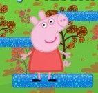 Peppa Pig pular nas nuvens