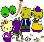 Colorindo a Hello Kitty