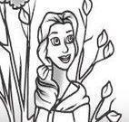 Colorir desenho da princesa Bela