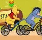 Corrida de bicicleta do Pooh e sua turma